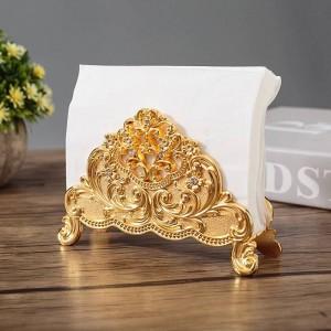 Europa Stil Tisch Tissue Holder Serviettenständer Metall Kunsthandwerk Dekoration Hotel Restaurant Desktop Cafe Ornamente Geschenk