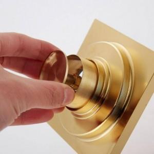 Bodenablauf im Europea-Stil aus vergoldetem Gold Bodenablauf aus Deodorant-Kupfer Badezimmer Duschraum Waschmaschine Bodenablauf XSQ1-22
