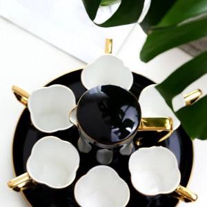 European Bone Kaffeetasse Set Teetasse Set Schwarz / Weiß Wasser Tasse Teekanne Nachmittagsteetasse Party Kaffeetassen Set Hochzeitsgeschenk