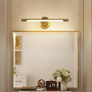 Europäische Kupfer Spiegel Lampe für Badezimmer LED Schrank Lampen Mode Make-Up Hängelampe Home Deco Wc Wandleuchte Leuchten