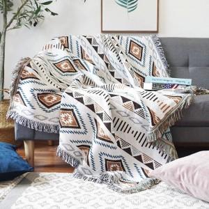 Europäische Geometrie Energie Decke Sofa Dekorative Schonbezug Cobertor auf Sofa / Flugzeug Reise Plaid Rutschfeste Nähte Decken