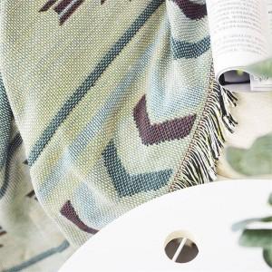 Europäische Geometrie Decke Kaffee Sofa Dekorative Schonbezug Cobertor auf Sofa Reisen Rutschfeste Nähte Decken Weihnachten