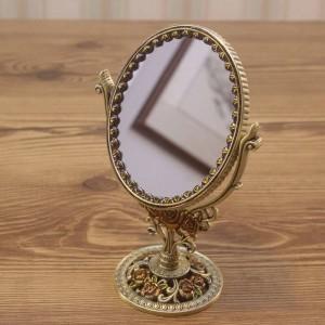Europäische retro kosmetikspiegel badezimmer schlafzimmer bronze bilden spiegel kreative metall doppelseitige dekorative spiegel wx8230930