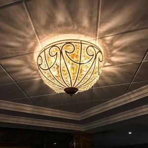 Europäischen Stil Land Deckenleuchten Vintage Eisen Wohnzimmer Lampe Restaurant Beleuchtung rustikale Schlafzimmer Lampe Kristall Deckenleuchte