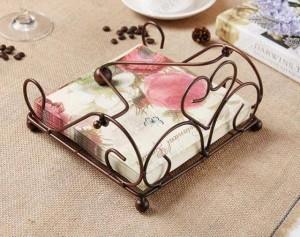 Im europäischen Stil Eisen Papier Handtuchhalter Küche, Esszimmer Lagerung Serviettenhalter neue Bronze Retro Papier Handtuchhalter