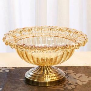 Europäischen Stil Wohnzimmer Kristallglas Obstschale Hause Weiche Dekoration Obstteller Kreative Dekoration