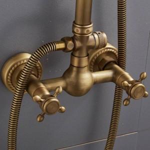Im europäischen Stil Retro Antik Kupfer Duschset Duschwanne Duscharmatur XT305