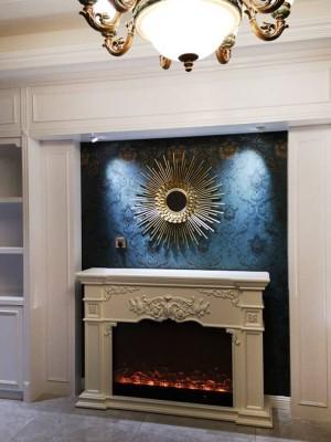 Europäische Sonnenbrille Wandbehang Dekoration Restaurant Licht Luxus Wandspiegel Schmiedeeisen dekorative Spiegel Hintergrundwand