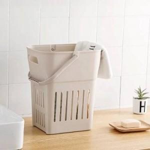 Extra große Kunststoffkorb schmutzige Kleidung Ablagekörbe Wäschekorb Bad Spielzeugkiste Wäschefass setzen