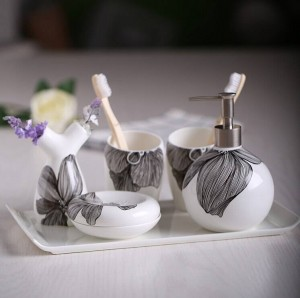 Mode Bad Toilettenartikel Badezimmer-Set Shukoubei Dental Keramik Palettensatz Seifenschale Zahnbürstenhalter