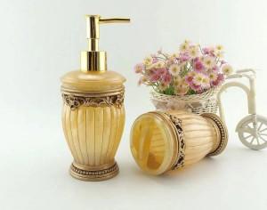 Mode Qualität Harz Bad fünf Stück Set Sanitärkeramik Bad Waschset Badset Seifenschale schön