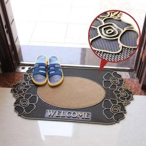 Mode rutschfeste Matten Fußmatte Kunststoff Gummimatte Teppich