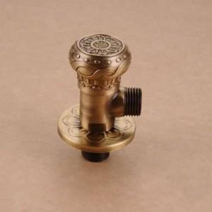 """Wasserhahn Ersatzteile 1/2 """"x 1/2"""" Antik Messing Eckventil Absperrung Wasser Dreieck Ventil für Wasserhahn und Toilette HJ-0318F"""