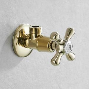 """Wasserhahn Ersatzteile 1/2 """"x 1/2"""" Antiuqe Messing Eckabsperrventil Füllung für Wasserhahn und Toilette Dreiecksventile Wasserstop 8818"""