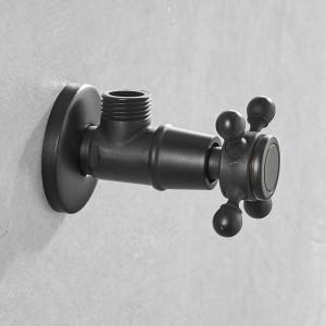"""Wasserhahn Ersatzteile 1/2 """"x 1/2"""" Gold Messing Eckventil Füllung für Wasserhahn und Toilette Dreiecksventile Wasserstop 8818"""
