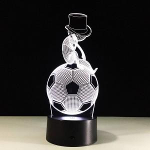 Fußball 3D LED Touch Nachtlicht 7 Farben ändernden 3D Visual Led Nachtlicht Kinder USB Tischlampe Baby Schlaflampe für Schlafzimmer