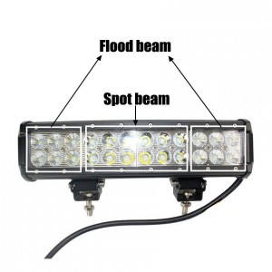 72W LED Arbeitslichtleiste 24 x 3W LED-Chip Flood Spot Beam Scheinwerfer Offroad Light Bar Fit ATV Außenleuchte