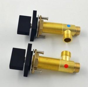 Doppelgriff Quadrat ORB Badezimmer Schwarz Farbe Wasserhahn drei Loch New Waschtischmischer heißes und kaltes Wasser Waschen XR8224