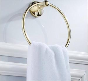 Gold voller Kupfer Badezimmer Wand Hardware Anhänger Handtuchring 9023K