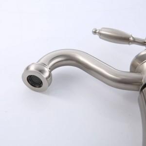 Moderne klassische Nickel-Draht Zeichnung der neuesten Beckenlampe Warm- und Kaltwasserhahn LAD-406