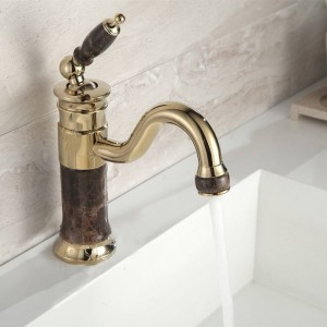 Neue Deck montiert Messing und Wasserhahn Bad Becken Wasserhahn Mischbatterie Gold Waschbecken Wasserhahn Bad Becken Waschbecken Wasserhahn XT617