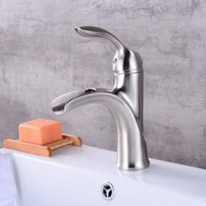 Neues Design Antik Messing Wasserhahn Nickel gebürstet Bad Wasserhahn schwarz und Chrom Waschtischarmatur LAD-403