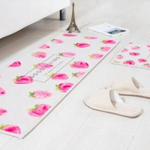 Obst Muster MAT Quadrat Kissen Küche Tür Pad Bad Rutschfeste Staub entfernen Fußmatten Tisch Teppich Bettwäsche Wassermelone Teppiche