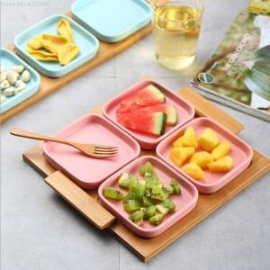 Modernes Wohnzimmerhaus der Fruchtplatte Keramischer kreativer Trockenfrüchteplattenhochzeits-Süßigkeitskastenmutterplatten-Snackplattenholzbehälter