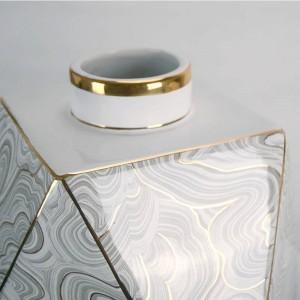 Geometrische Keramikvase Wasser Diamantvase Dekoration Luxus Dekoration Ornament