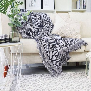 Geometrie Labyrinth Decke Sofa dekorative Schonbezug Cobertor Weihnachtsschmuck Startseite rutschfeste Nähte Plaid Decken
