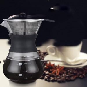Glass Express Drip Tragbare Kaffeekanne Wasserkocher Espressomaschine Mit Edelstahlfilter Barista Pitcher Percolator
