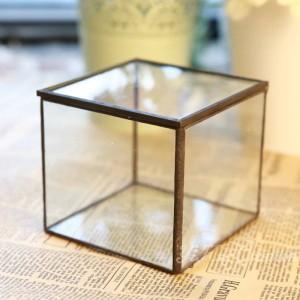Glasblumenzimmer Yongsheng Blume Geometrische Glasblumenzimmer Schöne Glas Schmuckschatulle Geschenk