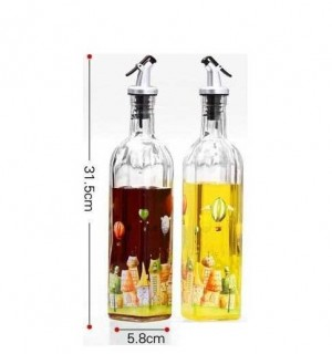 Glasöler auslaufsicher Jiangyouping Essig Flasche Öl Flasche Gewürz Flasche großen Twinset Küchenbedarf