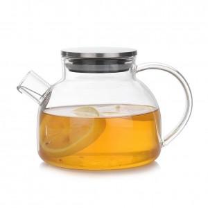 Glas Teekanne Cup High Borosilicate hitzebeständiges Tee-Set Hitzesicherheit und Explosionsschutz Tee-Set mit komfortabler Hand
