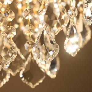 Gold 1 stücke veranda licht Cafe esszimmer Mini Anhänger kristall lampe Led Mittelmeer E27 Eisen Kristall Küche beleuchtung