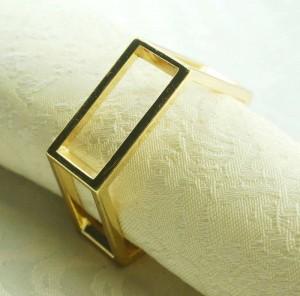 Serviettenring aus goldenem Metall, Serviettenhalter für Hochzeit, 24-tlg