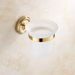 Goldmessing Badzubehör Toilettenbürstenhalter Sanitärartikel Wandmontage 7008G
