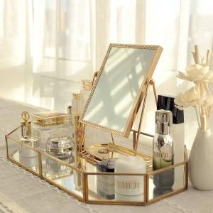 Golden Dressing Spiegel Prinzessin Spiegel Net Red Beauty Mirror, Freundin Geschenk zu senden