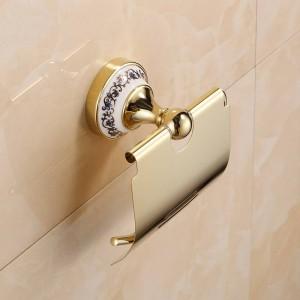 Goldener Edelstahlpapierhalter an der Wand befestigte Badezimmer-Zusatzhardware 7002GSP