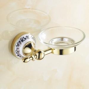 Goldene Edelstahl Seifenschalen Scheibenhalter Badzubehör Sanitärkeramik 7005GSP