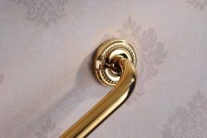 Haltegriffe Gold Messing Bad Armlehne Badewanne Sicherheit Haltegriff Handtuchhalter Heimtoilette Ältere Kinder Rutschfester Handlauf HJ-1314k