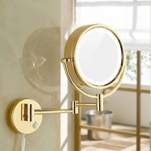 Rasieren von Make-up-Spiegeln mit LED-Leuchten und 10-facher / 1-facher Vergrößerung