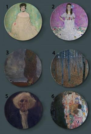 Gustav Klimt Rubens Gemälde Dekorplatten Keramik Home Artistic Dish Hotel Wohnzimmer Österreich Display Ölgemälde Platten