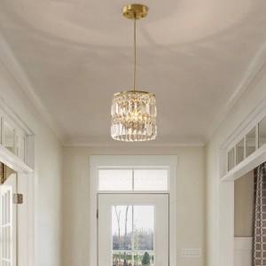 Flur 1-3 stücke hängen kristall pendelleuchten für esszimmer hause kupfer küche beleuchtung lustre wohnzimmer led bar hanglamp