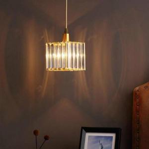 Flur 1 Stück Mini Kristall Pendelleuchte für Kinderzimmer Lamparas Nachttischlampe Esszimmer E14 Led Veranda Licht Kristall Bar Lampe
