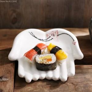Handgemalte Keramikplatten Küchenutensilien Haushalt Dekorative Gerichte Obst Sushi Platte Schmuck Aufbewahrungsplatten Schmuck Gericht
