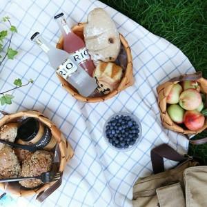 Handgefertigte holzgeflochtene körbe gemüse obst brot ei lebensmittel lagerung camping picknick snacks container küche aufbewahrungstasche