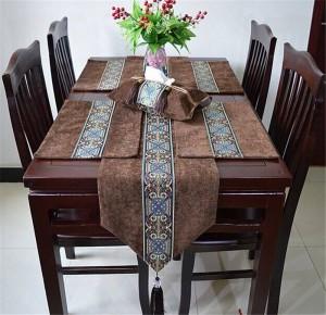 HAO JOY Luxus Europa Handwerk Handwerk Europa Stil Tischläufer Heißer Silber Wohnkultur Tischdekoration Tischdecke, 1 Stück