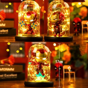 Hero Spider LED Tischlampe Marvel Super Iron Man Hulk Deadpool LED Lampe Nachtlicht Multicolor Weihnachtsdekor Kinder Geschenk Spielzeug