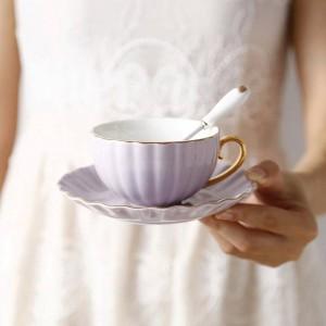 Hochwertige Knochen Europäischen Phnom Penh Kaffeetasse Pastoralen Nachmittagstee Keramik Tee Schwarzer Tee Tasse Teller Löffel Tasse Britisch
